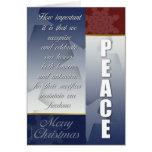 Tarjeta de Navidad patriótica con los copos de nie