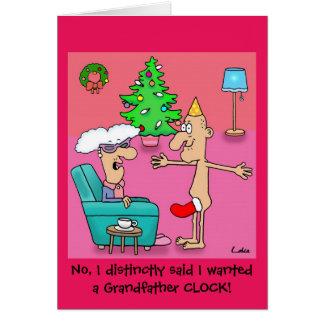 Tarjeta de Navidad personalizada abuelo divertido