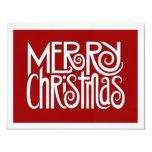 Tarjeta de Navidad plana blanca de las Felices Invitación 10,8 X 13,9 Cm
