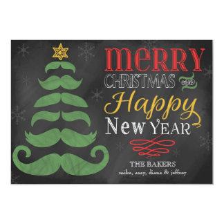 """Tarjeta de Navidad plana de la feliz pizarra del Invitación 5"""" X 7"""""""