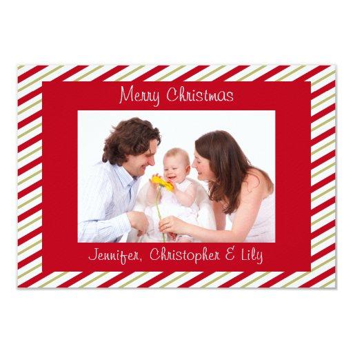 Tarjeta de Navidad plana de la foto de encargo Invitación Personalizada