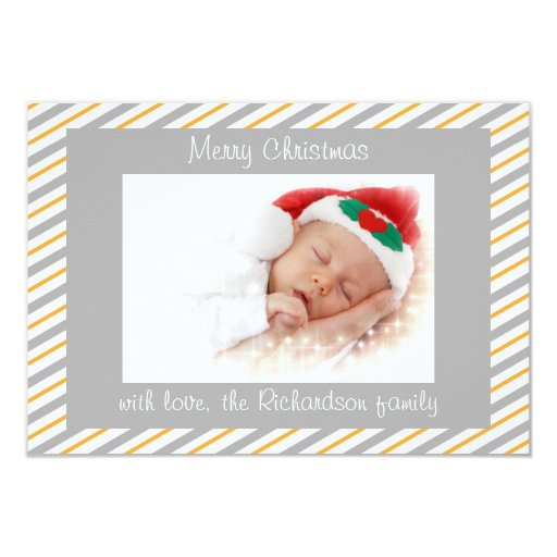 Tarjeta de Navidad plana de la foto de encargo Comunicado Personal
