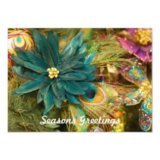 """Tarjeta de Navidad plana del Poinsettia de la Invitación 4.5"""" X 6.25"""""""