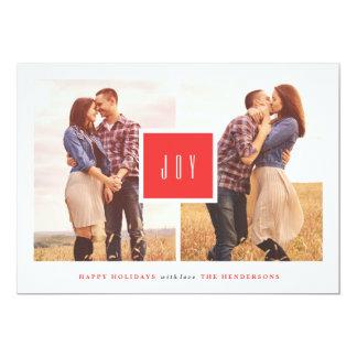 """Tarjeta de Navidad plana enmarcada de la alegría Invitación 5"""" X 7"""""""