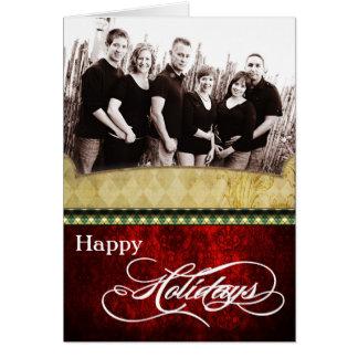 tarjeta de Navidad PLEGABLE personalizada 5x7 de l