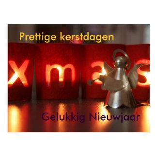 Tarjeta de Navidad poco ángel NL Postal
