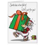 Tarjeta de Navidad por completo del amor