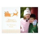 Tarjeta de Navidad preciosa de Santa (oro) Invitación 12,7 X 17,8 Cm