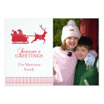Tarjeta de Navidad preciosa de Santa (roja) Invitación 12,7 X 17,8 Cm