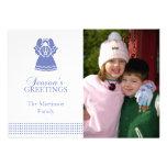 Tarjeta de Navidad preciosa del ángel (púrpura) Anuncios