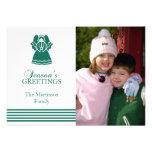 Tarjeta de Navidad preciosa del ángel (verde) Invitacion Personalizada