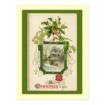 Tarjeta de Navidad preciosa del Victorian del vint Postal