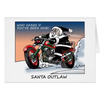 Tarjeta de Navidad proscrita Santa