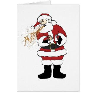 Tarjeta de Navidad Puking de Santa
