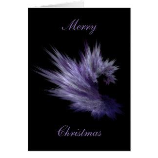 Tarjeta de Navidad púrpura de la piel