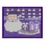 tarjeta de Navidad púrpura Invitaciones Personalizada