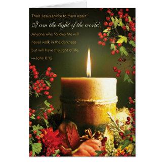 Tarjeta de Navidad religiosa de la cita