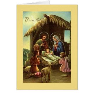 Tarjeta de Navidad religiosa de la natividad itali