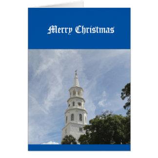 Tarjeta de Navidad, religioso, cristiana, iglesia