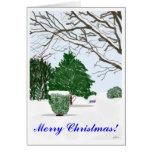 Tarjeta de Navidad reservada del día de invierno