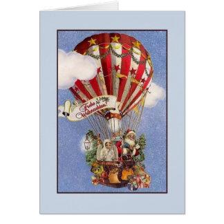 Tarjeta de Navidad retra de Frohe Weihnachten del