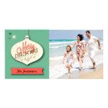 Tarjeta de Navidad retra Tarjeta Con Foto Personalizada