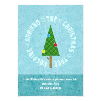 """Tarjeta de navidad ROCKIN' TREE Invitación 5"""" X 7"""""""