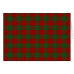 Tarjeta de Navidad roja y verde del modelo de la g