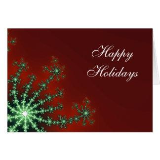 Tarjeta de Navidad roja y verde del negocio del co