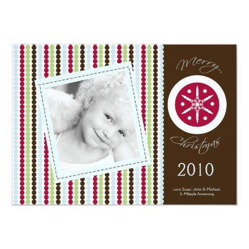 """tarjeta de Navidad rojo marrón de la FOTO del Invitación 5"""" X 7"""""""