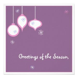 Tarjeta de Navidad rosada retra Comunicado Personal
