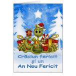 Tarjeta de Navidad rumana - dragón lindo - FE de C