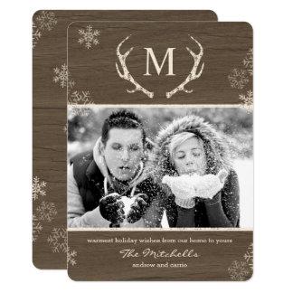 "Tarjeta de Navidad rústica de la tarjeta de la Invitación 5"" X 7"""