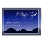 Tarjeta de Navidad santa de la noche de O