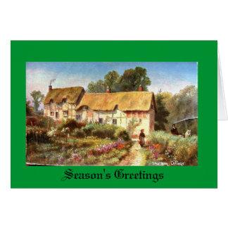 Tarjeta de Navidad, Shottery, Stratford-sobre-Avon