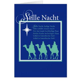 Tarjeta de Navidad silenciosa alemana de la noche
