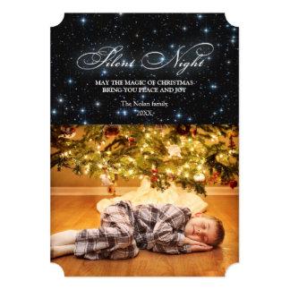 """Tarjeta de Navidad silenciosa elegante de la noche Invitación 5"""" X 7"""""""