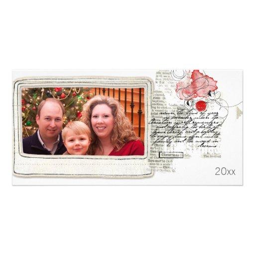 tarjeta de Navidad simple de la foto Plantilla Para Tarjeta De Foto