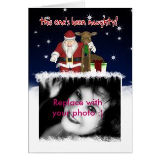 Tarjeta de Navidad - su fotografía aquí - Customis