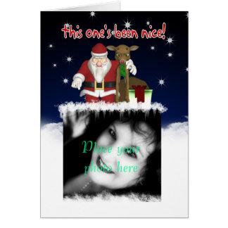 Tarjeta de Navidad - su fotografía aquí - Customiz