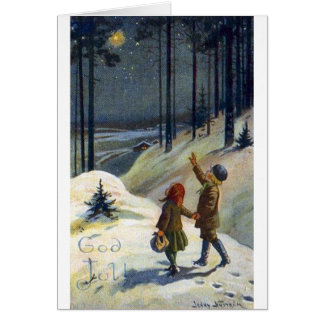 Tarjeta de Navidad sueca