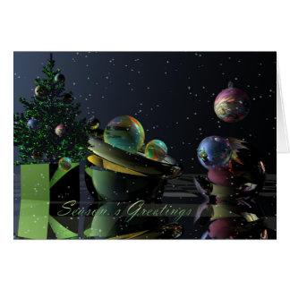 Tarjeta de Navidad surrealista con los saludos de