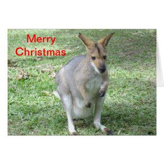 Tarjeta de Navidad temática australiana