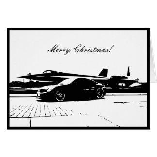 Tarjeta de Navidad temática del coche del cupé G35
