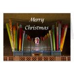 Tarjeta de Navidad tonta del órgano