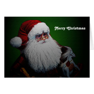 Tarjeta de Navidad tradicional de Papá Noel