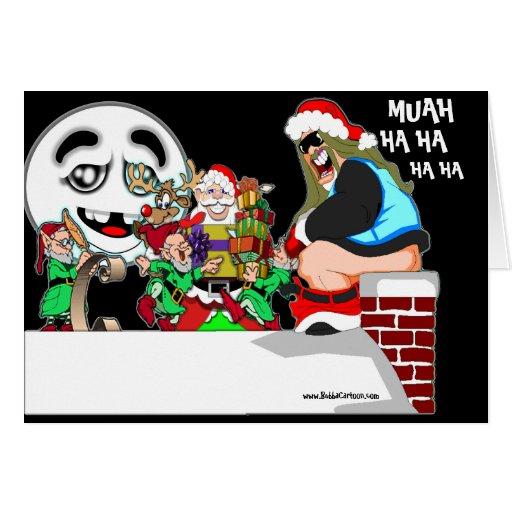 Tarjeta de Navidad traviesa