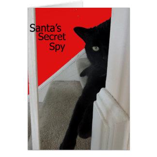 Tarjeta de Navidad traviesa o Niza del espía del