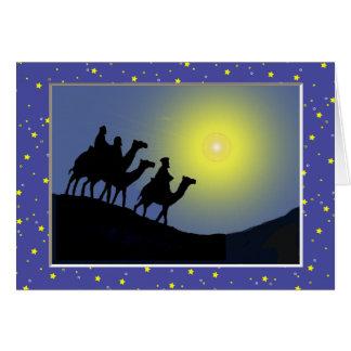 Tarjeta de Navidad tres de los hombres sabios
