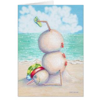 Tarjeta de Navidad tropical de la yoga